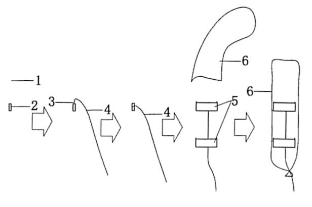 图5.3炮孔起爆药包加工示意图