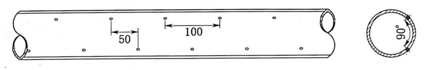 图5.7发射管布置示意图(单位:mm)