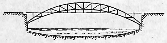 图1-1-9中承式桥简图