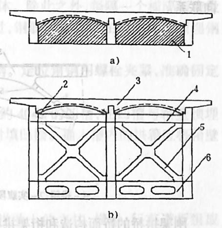 图1-1-61横向联结系布置和桥面组成
