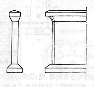 图2-1-63实体薄壁桥墩(墙式桥墩)