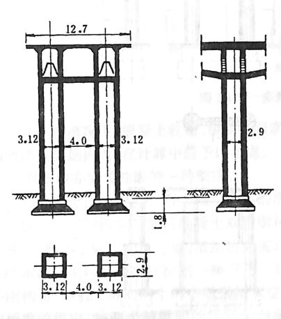 图2-1-70方形空心桥墩