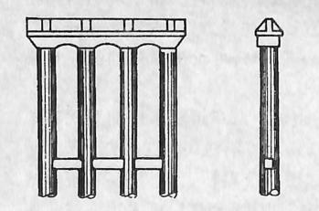 图2-1-73拱桥多柱式桥墩