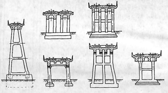 图2-1-78框架墩的布置