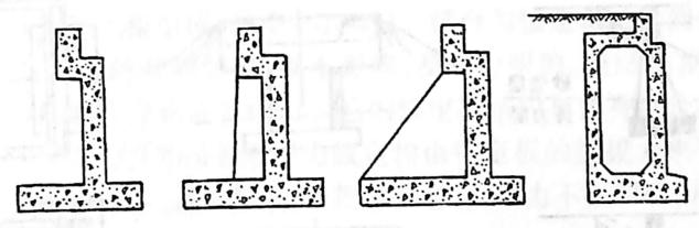 图2-1-89轻型桥台型式——薄壁轻型桥台