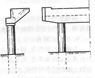 图2-1-91框架式桥台型式 ——柱式桥台