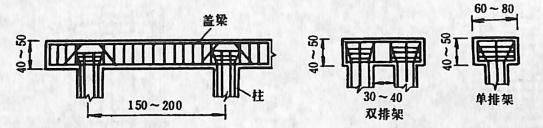 图2-1-133排架墩盖梁构造