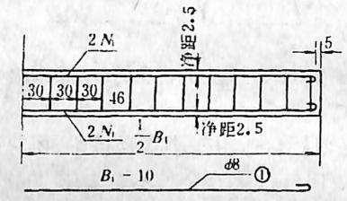 图2-1-140台帽钢筋构造 尺寸单位:cm