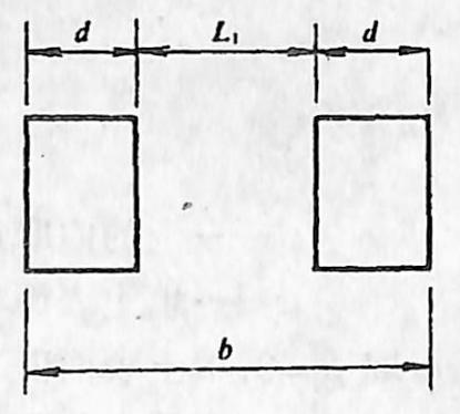 图2-1-179桩柱宽度的 计算图式