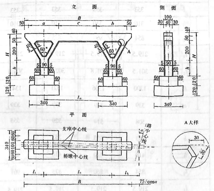 image.png图2-1-190扩大基础双Y型墩 尺寸单位:cm