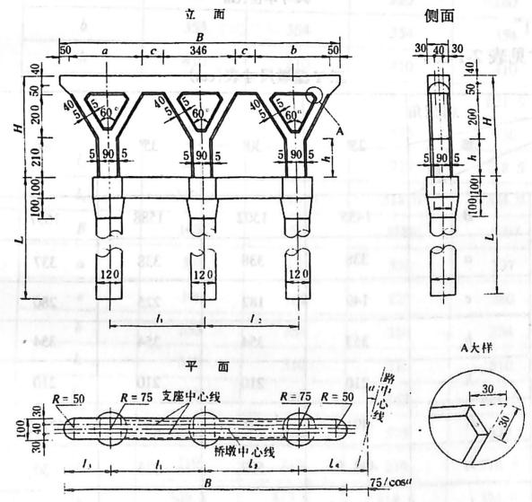image.png图2-1-191桩基础三Y型墩 尺寸单位:cm