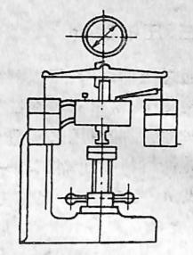 图3-1-7布氏硬度测量原理及布氏硬度试验机简图a)测量原理;b)试验机简图