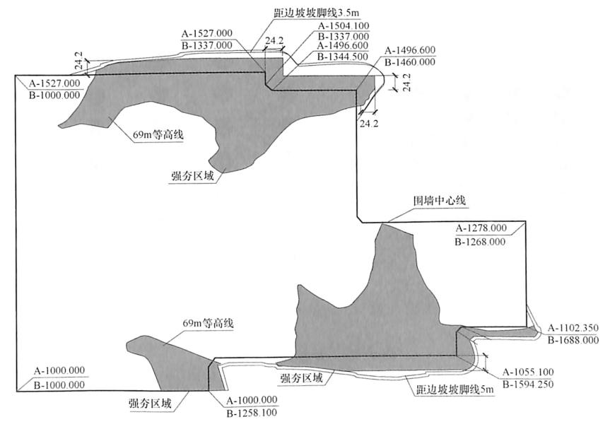 图9-11第三层强夯位置示意图