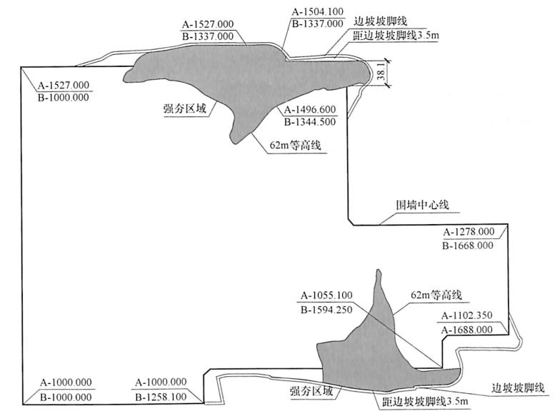 图9-10第二层强夯位置示意图