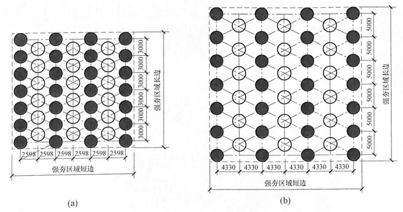 图9-13夯点位置示意图