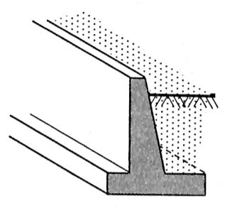 图5-1钢筋混凝土挡土墙