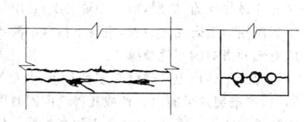 图11-3钢筋锈蚀引起的纵向裂缝